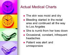 Skin Turgor Charting S O A P Charting Actual Medical Charts The Skin Was Moist