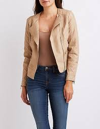 Quilted Faux Leather Moto Jacket   Charlotte Russe & Quilted Faux Leather Moto Jacket Adamdwight.com