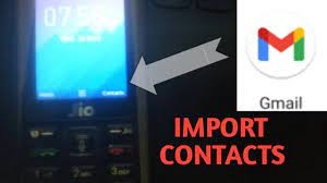 import contacts from gmail to jio phone