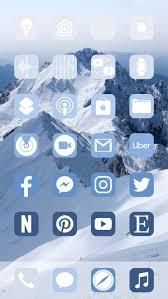 Aesthetic Blue Christmas iOS 14 App ...