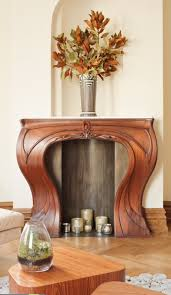 i am in love with this fireplace mantel ine beaupere design designed this custom art nouveau inspired mantle to add curves to the space and had a