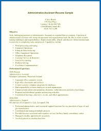objective for administrative assistant objective for resume examples for administrative assistant resume
