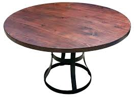 wood and metal round dining table salvaged with in reclaimed large