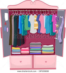 pink closet room. Brilliant Closet Illustration Of A Pink Wardrobe Full Womenu0027s Clothes For Closet Room