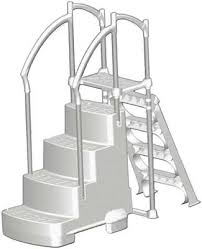 Image Deck Fiesta Swimming Pool Steps Or Stepladder Combo Pelican Shops Above Ground Swimming Pool Ladders