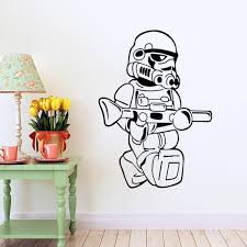star wars wall decals stickers stormtrooper decals room decor modern easy removable vinyl stickers free shipping on star wars wall art stickers with star wars wall decals stickers stormtrooper decals room decor modern