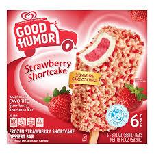 strawberry shortcake dessert with ice cream. Delighful Shortcake Good Humor Ice Cream U0026 Frozen Desserts Strawberry Shortcake Bar  And Dessert With D
