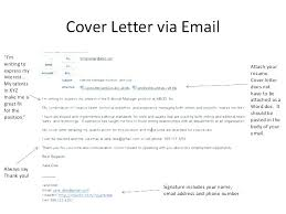 Sending A Cover Letter Sending A Cover Letter And Resume By Email