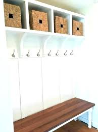 Entry Storage Bench With Coat Rack Inspiration Bench With Coat Rack Rustic Built In Entry Way Seating Diy Storage