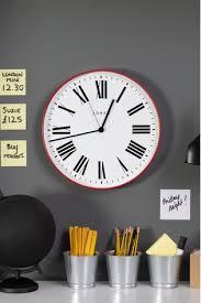 jones clocks red wall clock