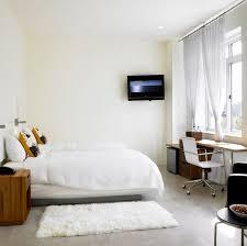 Nyc Bedroom Modern Chic Bedroom Interior Design Twin Deluxe Nu Hotel Rooms
