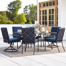 outdoor swivel dining chairs. 7 Piece Patio Dining Set With Swivel Chairs Outdoor O