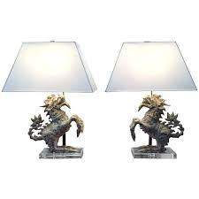 foo dog lamps pair of table for porcelain