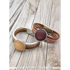 how to make a leather bracelet with magnetic closure camel