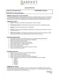 Ultimate Job Duties For Server Resume Also Description Descriptions