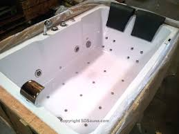 72 bathtub jetted whirlpool 2 person white 14