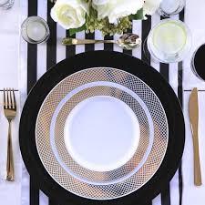 white table settings. Black \u0026 White Table Settings