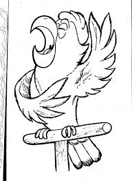 Pirate Parrot Coloring Page Macaw Coloring Pages American Home ...