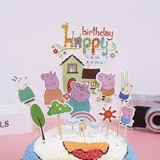 New Birthday Cake Topper Peppa Pig Birthday Cake Decorations Design