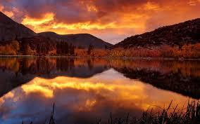 mountain lake sunset. mountain lake [6] wallpaper sunset t