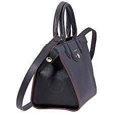 longchamp le pliage heritage medium leather tote black