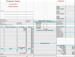 excel service template free hvac invoice template excel pdf word doc service sheet