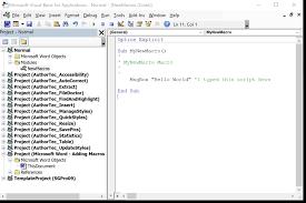 Microsoft Word Adding Macros The Normal Template Work