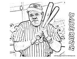 Small Picture Babe Ruth Coloring Pages Derek Jeter Baseball Picture To Color At