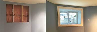 window door cut out egress window
