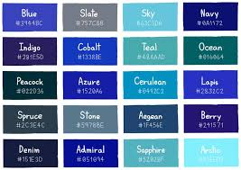 Shades Of Color Blue Chart 50 Blue Interior Design Ideas Blue Room Designs