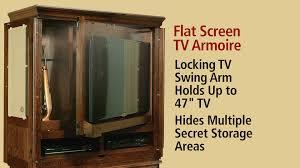 Hidden Tv Cabinets Tv Armoire Converts Locked Hidden Area To Gun Cabinet Youtube