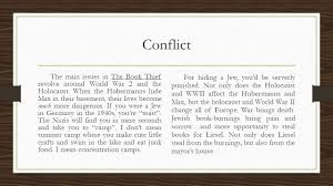 the book thief by markus zusak summary the book thief is about a  conflict the main issues in the book thief revolve around world war 2 and the holocaust 6 characters