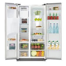 samsung tv fridge. samsung rs7567bhcsp 532l american freestanding fridge freezer - silver tv a