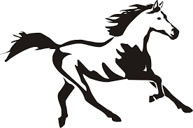 running horse clipart black and white. Brilliant White Running Horse And Rider Silhouette Images Pictures  Becuo Intended Clipart Black White Library