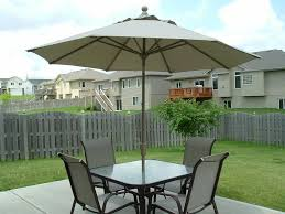 image of patio furniture sets with umbrella insurance