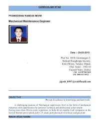 Power Plant Mechanical Engineer Resumes Mechanical Maintenance Engineer 1