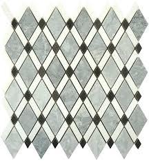 glazzio tile mirage diamond series white basalt mosaic tile