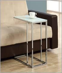 glass top sofa side table slide under