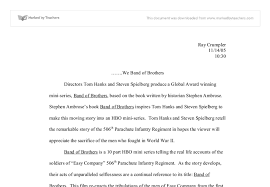 of brothers essay band of brothers essay