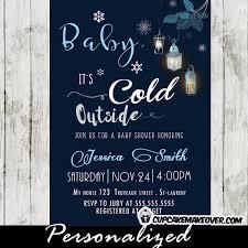 Snowflake Baby Shower Invitations Snowflake Baby Shower Invitations Blue Winter Lanterns Baby Its