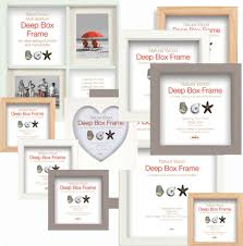 deep box frames wooden display picture frames choice of 3 colours and 6 sizes