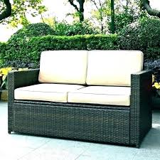 small outdoor loveseat brown patio cover furniture covers love seats waterproof cushions space