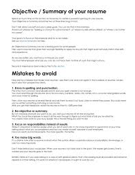 Objectives For Resumes Writing Objective Resume Sample On How It