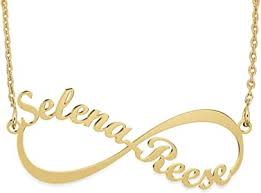 Sterling Silver <b>Infinity</b> Name <b>Necklace Personalized</b> 18K Gold Plated