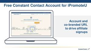 constant contact ipromoteu presentation access to live and recorded webinars