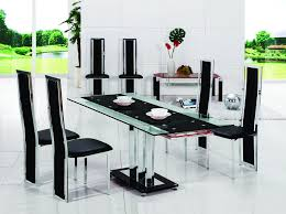 pavia extending glass chrome dining room table 6 chairs glass top dining table set 6 chairs