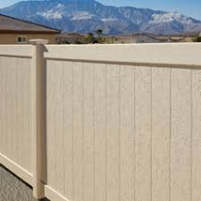 vinyl fence colors. Bufftech Chesterfield CertaStucco Vinyl Privacy Fence, Colors Available: Fence