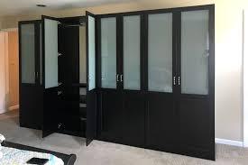 custom built in black wardrobe closet