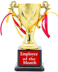 Emploee Of The Month Aark India Employee Of The Month Trophy Award Pc 00279