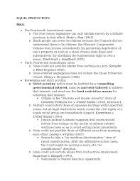 constitutional law fourteenth amendment outlines oxbridge notes  constitutional law fourteenth amendment outlines